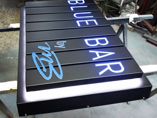 Led sign Blue Bar
